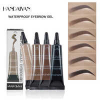 HANDANYAN Augenbraue Enhancer Make-Up Henna Augenbraue Gel 6 Farbe Schwarz Braun Wasserdichte Flüssige Eye Brow Farbton Pinsel Sets