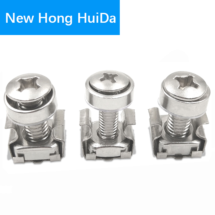 US $6 99 |Cage Nuts Bolts Washers Metric Square Hole Hardware Server Rack  Screw Mount Clip Nuts M5