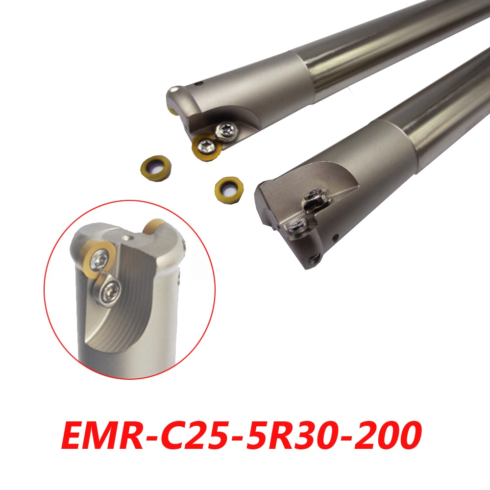 Free Shipping EMR-C25-5R30-200 Indexable Face Milling Cutter Tools For RPMW1003MO Carbide Inserts Suitable For NC/CNC Machine