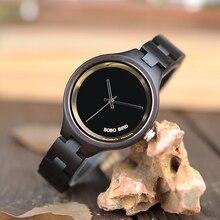 Бобо птица Для женщин часы деревянные Бамбук кварцевые часы женские наручные часы relogio feminino с полной Дерево группа в подарочной коробке