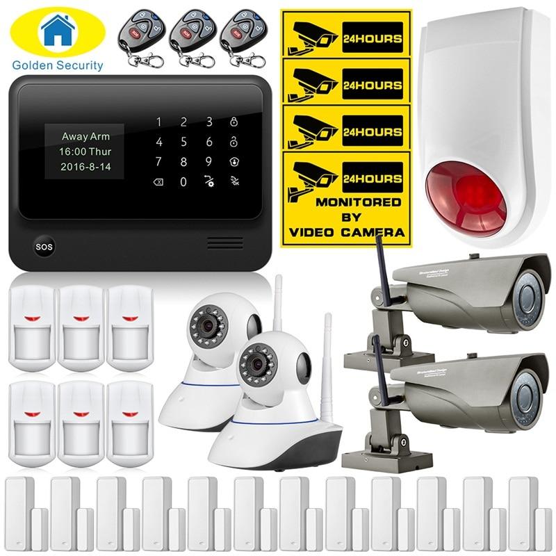 Wifi GSM Alarm System Door Open Remind Sensor Web Gsm Alarm System Home Alarm Security Outdoor Wifi Ip Camera Flashing Siren web based school management system