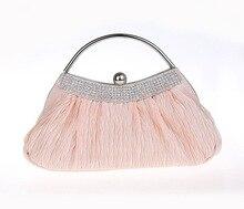 Neue Seide Abendtaschen Mode Frauen Geldbörsen und Handtaschen Frauen Kette Umhängetaschen Luxus Clutch Totes Tasche für Party Hochzeit