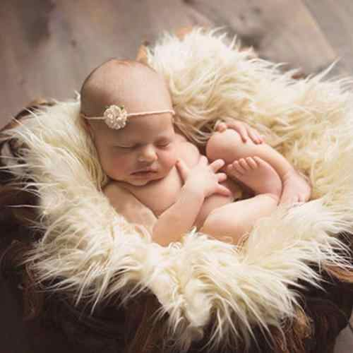 Faux Fur Photography Photo Prop Baby Newborn Blanket Background Backdrop Rug
