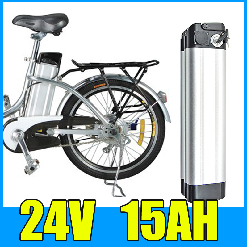 24V 15AH Lithium Battery , Aluminum alloy Battery Pack , 29.4V Electric bicycle Scooter E-bike Free Shipping 3 6v 2400mah lithium battery pack for psp slim 2000