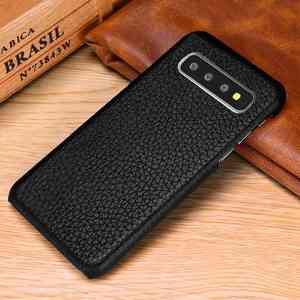 Image 2 - Sprawa dla Samsung Galaxy S10 S8 S9 Plus S10e skórzany pokrowiec luksusowe liczi Fundas pokrywa dla Samsung S10 S9 S8 Plus przypadki