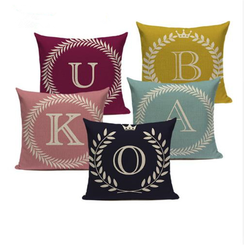 >Colorful Nordic Style Letter Kussenhoes Sofa Seat Car Seat <font><b>Farmhouse</b></font> <font><b>Pillows</b></font> <font><b>Gift</b></font> <font><b>Pillow</b></font> Case Covers Home Office Furniture Decor