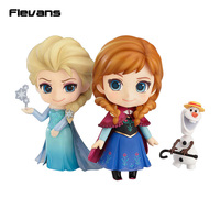 Princess Anna 550# Queen Elsa 475# Nendoroid PVC Action Figure Collection Model Kids Toy Doll 10cm