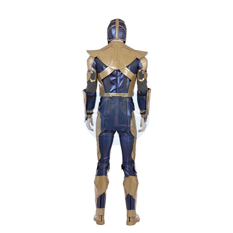 Avenger 4 Thanos Cosplay Costume Thanos Jumpsuit Battle Suit Men Halloween Christmas Carnival Party Clothes