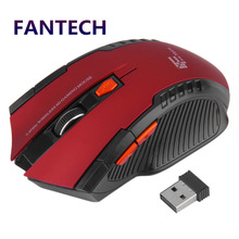 FANTECH 2.4GHz USB 2.0 Wireless Mouse 6D Gaming Optical Gaming Mouse Mice Computer Mouse 2400DPI for Desktop Laptop PC Pro Gamer