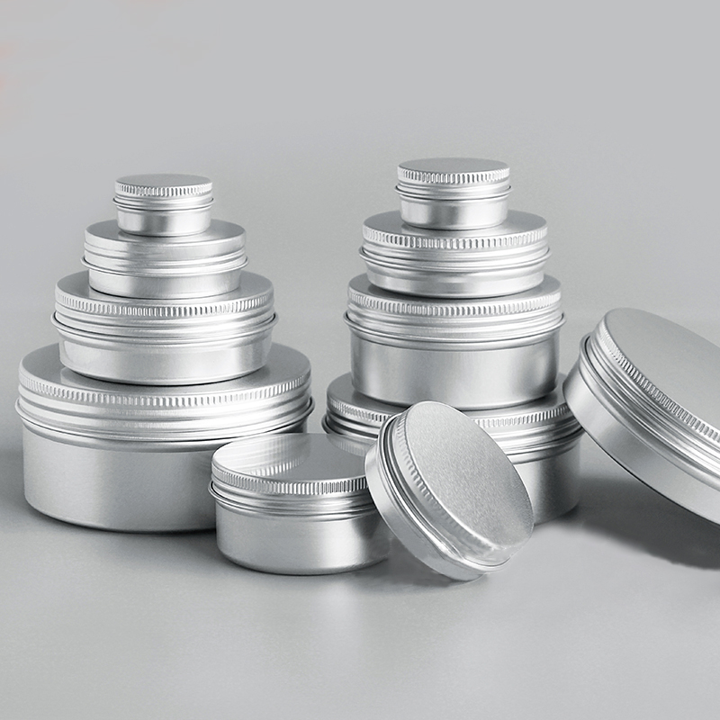 Nachfüllbare Flaschen 100x15g Leere Mini Schwarz Aluminium Creme Jar Pot Nail Art Make-up Lip Gloss Leere Kosmetische Metall Dosen Container
