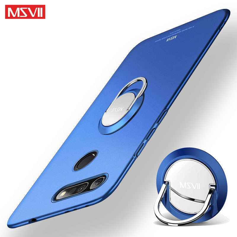 Huawei Honor View 20 Case Cover Msvii Finger Ring Slim Matte Coque Honor View20 Case Metal Holder Cover Honor V20 V 20 Case Capa
