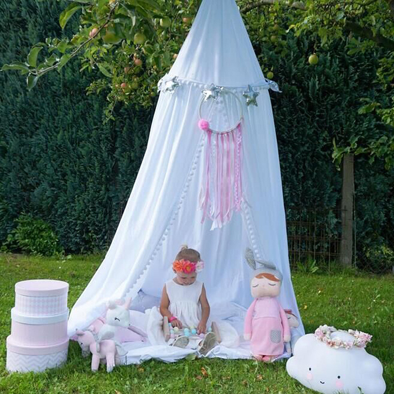 Baby bed curtain Children Room decoration Crib Netting baby Tent Cotton Hung Dome baby Mosquito Net photography props
