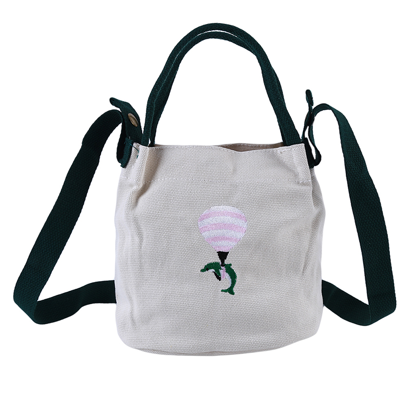 High Capacity Women Canvas Tote Ladies Casual Lady's Bag Tote Shopping Bag Embroidery Crossbody Bags Purses Casual Handbag