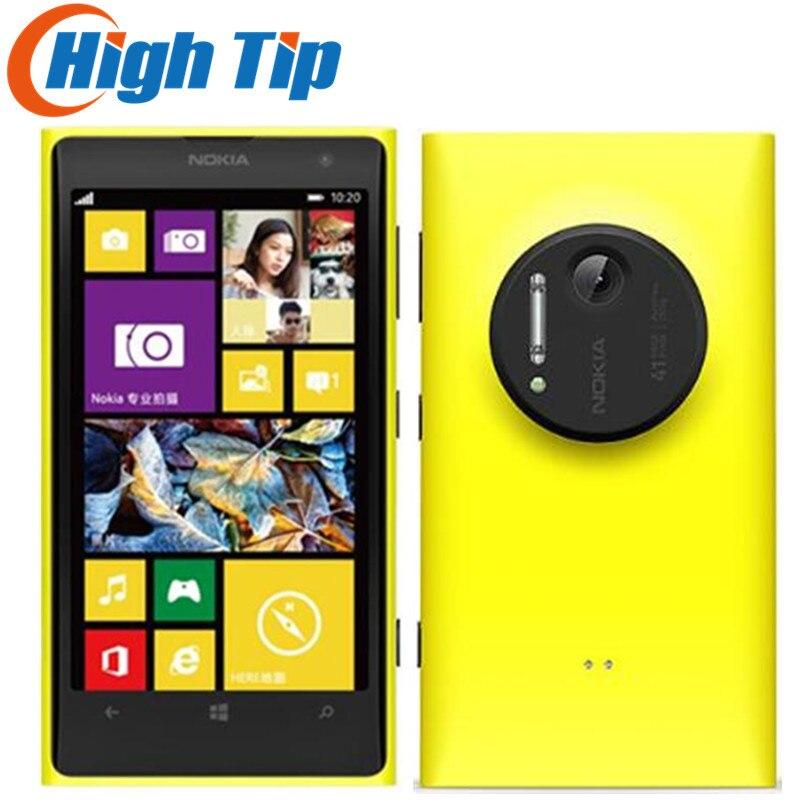 Cadeau gratuit! Nokia Lumia 1020 d'origine mobile téléphone débloqué 4.5 écran Tactile 41.0MP Camra 32 gb ROM 2g Dual core WIFI Rénové