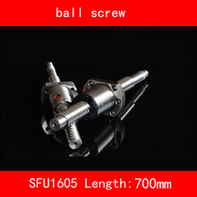 thread 16mm Ball Screw Rolled SFU1605 length 700mm+1605 Flange single ballnut 3d print CNC parts standard end BK/BF12 ball screw sfu1605 250 to1500mm end machine with bk12 bf12 end support bearing mounts