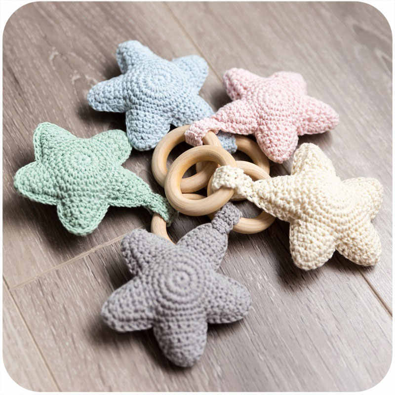Crochet PATTERN ONLY - Grey Crochet Bunny Teething Ring / Wood ... | 800x800