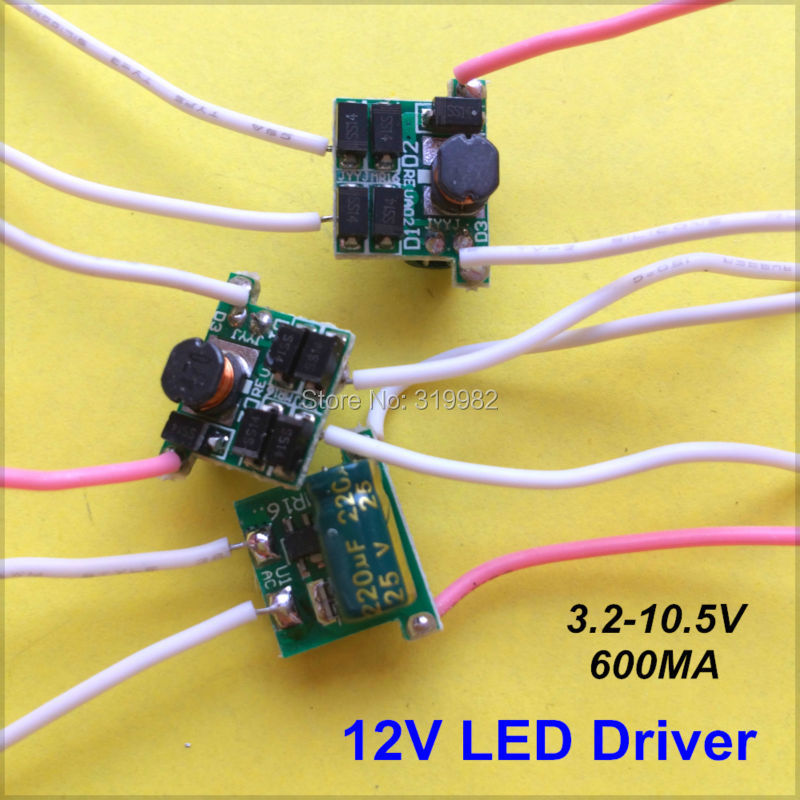 100pcs 12V input LED power driver 1 3X3W 600MA 1X3W 3X3W 3V 9W 10V led lamp