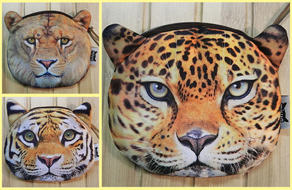 2016 Cylindrical Zipper Animal Prints New Coin Purses Tiger lion leopard Zero Wallet Cute Key Pendant Bags pouch ougold girl cylindrical character zipper new fashion coin purses mini portable headphones cute zero wallets