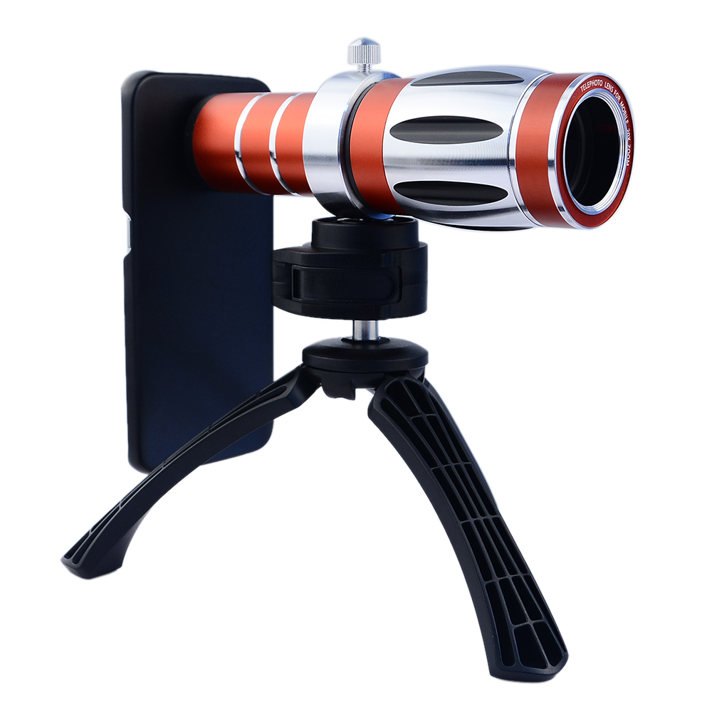 High end 3in1 20x Optical Zoom Telephoto Telescope Lens Kit For iPhone 4 4s 5 5s SE 6 6s 7 Plus Tripod Cases Phone Camera Lenses - 3