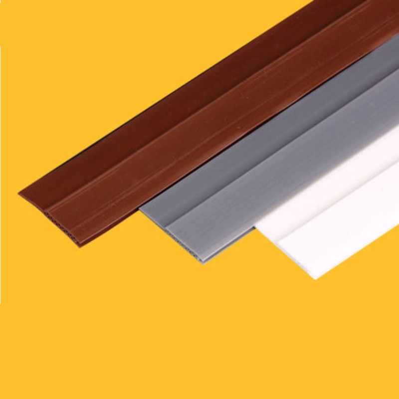 28x910mm Acoustic Silicon Rubber Door Bottom Sweep Threshold Seal With  Cavity Chamber 3M Backing Soundproof Sealing Tape In Sealing Strips From  Home ...