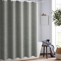 Einfache Dusche Vorhang Nachahmung Leinen Home Hotel Dusche Vorhang Wasserdicht Verdickung Bad Dusche Vorhang|Duschvorhänge|   -