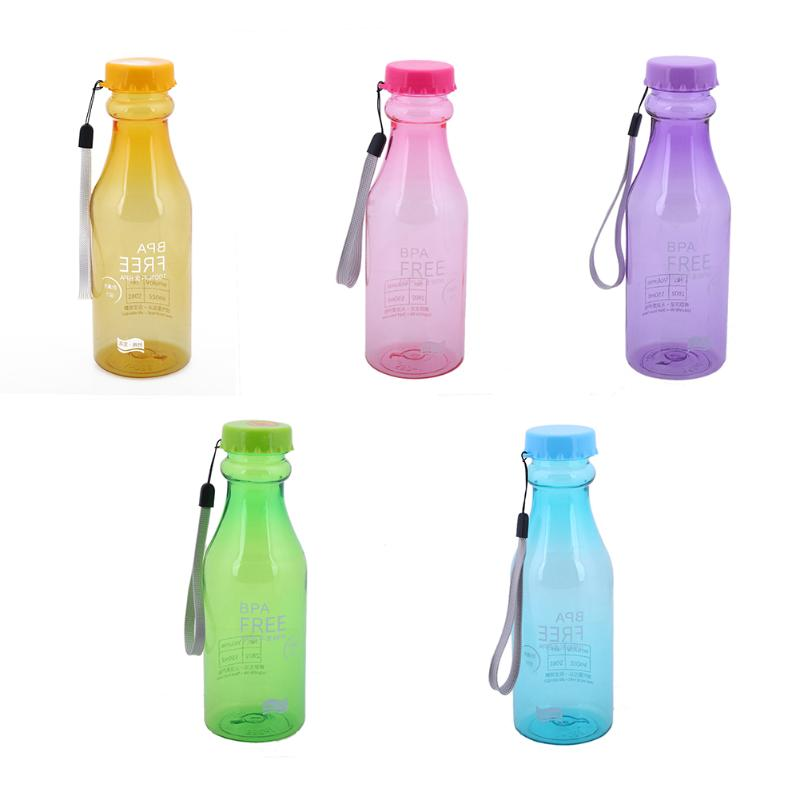 550ml Portable Leak-Proof Anti Dropping Water Bottle Unbreakable Drink Water Bottle Camping Sport Travel Bottle for Water