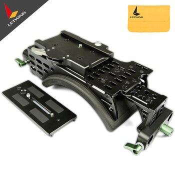 Lanparte VMS-01 V Mount Camera Support System Ergonomic Shoulder Pad Baseplate for DSLR Camera