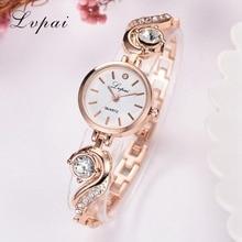Lvpai Brand Luxury Rhinestone Watches Women Quartz Bracelet Watches Ladies Dress New Fashion Rose Gold Clock relogios kol saati цены