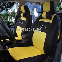Universal car seat cover dla Kia Optima Maxima karnawał rio Sportage ceed Cerato KIA K2K3K5 samochodowe akcesoria samochodowe naklejki