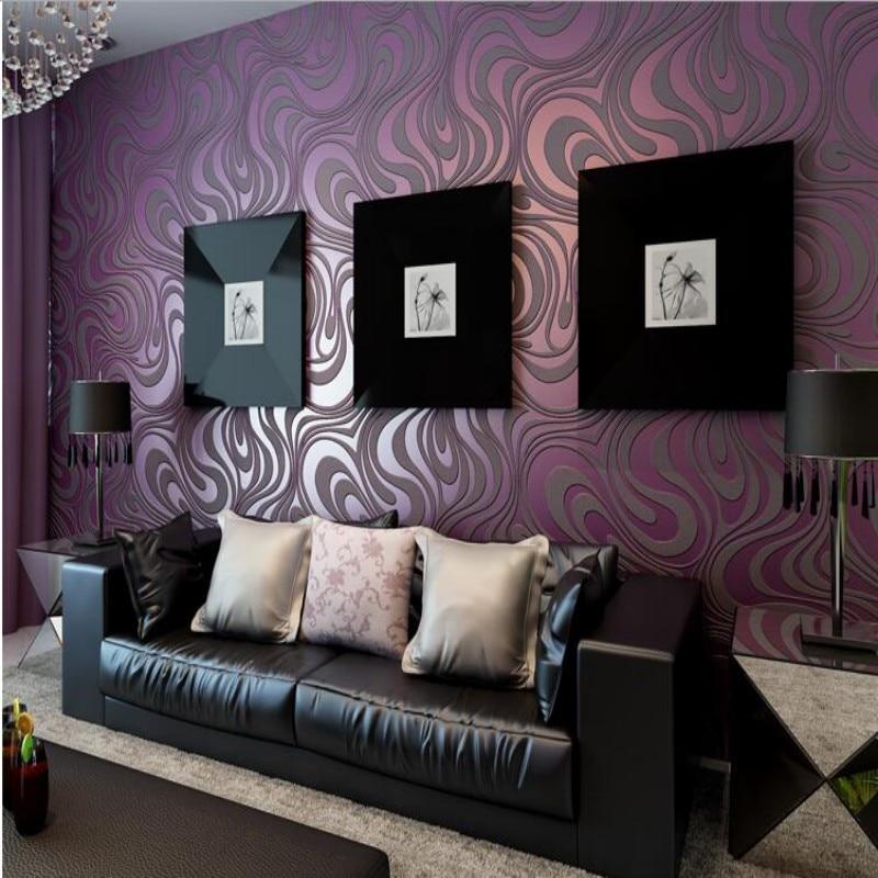 Beibehang 3D rouleau de Papier Peint Damas Décoratif Moderne Courbe Simple Papier Peint KTV Bar Salon Chambre Papier Peint pour murs 3d
