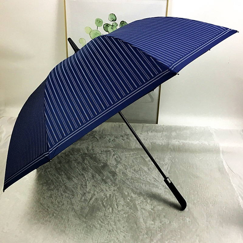 Straight pole rain long handle automatic umbrella golf men gift umbrellas men parasol High end business umbrella corporation