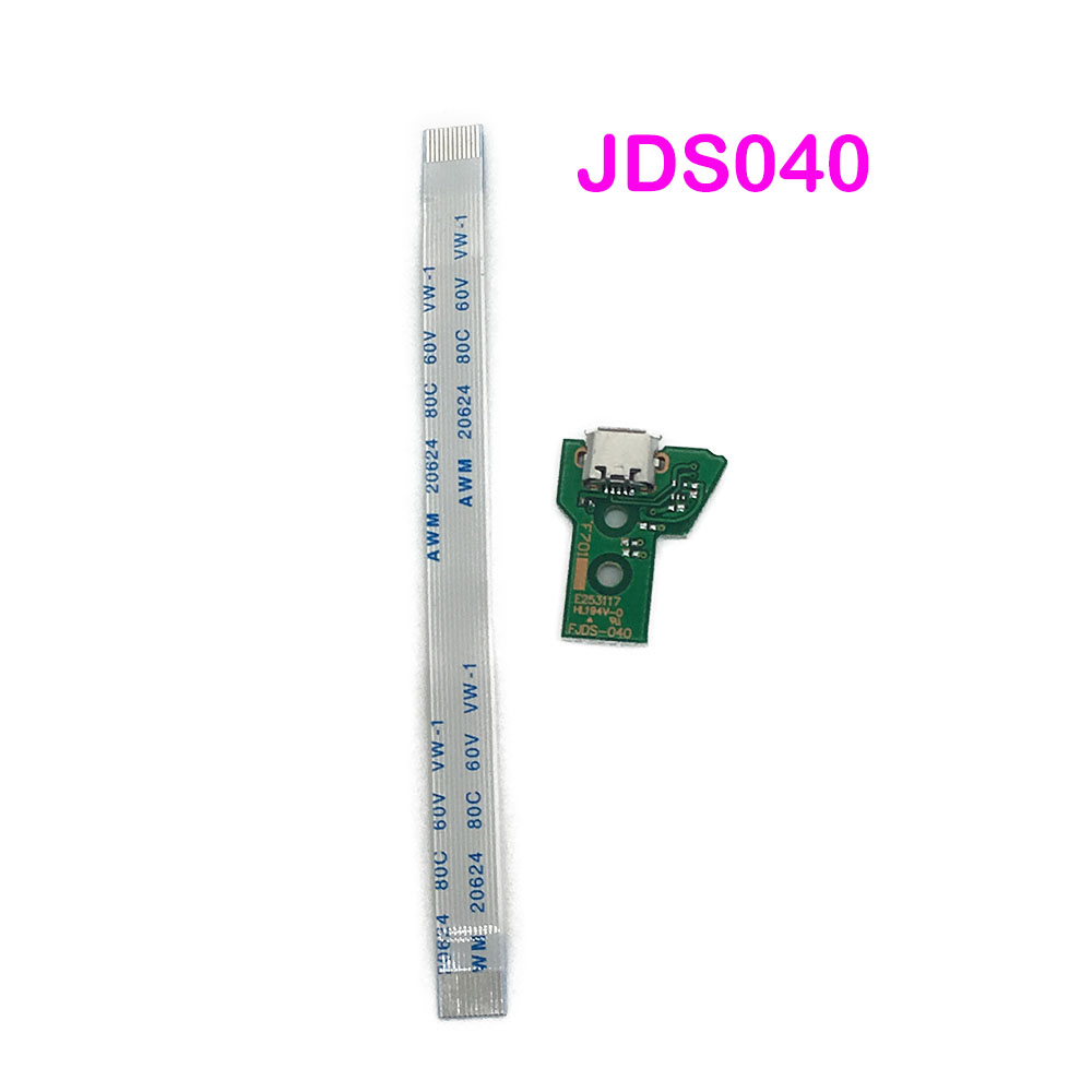 10SETS V4 12 Pin Charge Ribbon Cable For PS4 Pro Controller JDS-40 USB Charging Board Socket Circuit & Cable