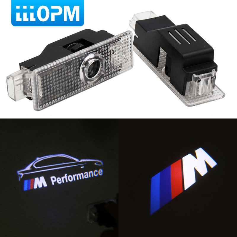 For BMW F10 F30 E60 E90 E92 E93 F20 F01 F15 Z4 E70 E71 E67 E68 F16 X1 X6 GT M3 M5 M Performance Logo Car LED Door Welcome Light 2pcs pair 24 led license plate led light lamp white 6000k error free for bmw e39 m5 e70 e71 x5 x6 e60 m5 e90 e92 e93 m3 525i