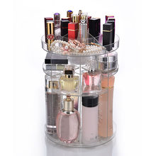 Clear Makeup Organizer Rotatable Cosmetic Jewelry Storage Holder for Lipsticks Eyeshadow Nail Polish MSI-19(China)