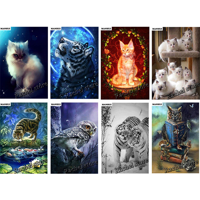 Diamond Embroidery Diy Diamond Painting Cross Stitch Kits Diamond Mosaic Animal Character Full Square Diamond Embroidery FB015