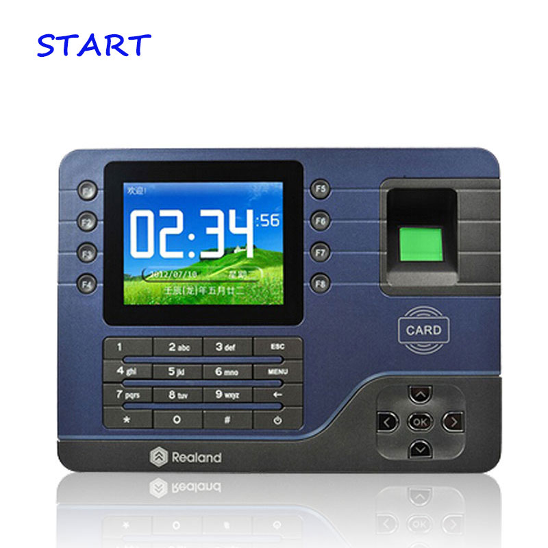3.2inch TCP/IP/USB Biometric Fingerprint Reader Time Clock Recorder Finger Attendance Employee Machine Realand EM Card A-C091