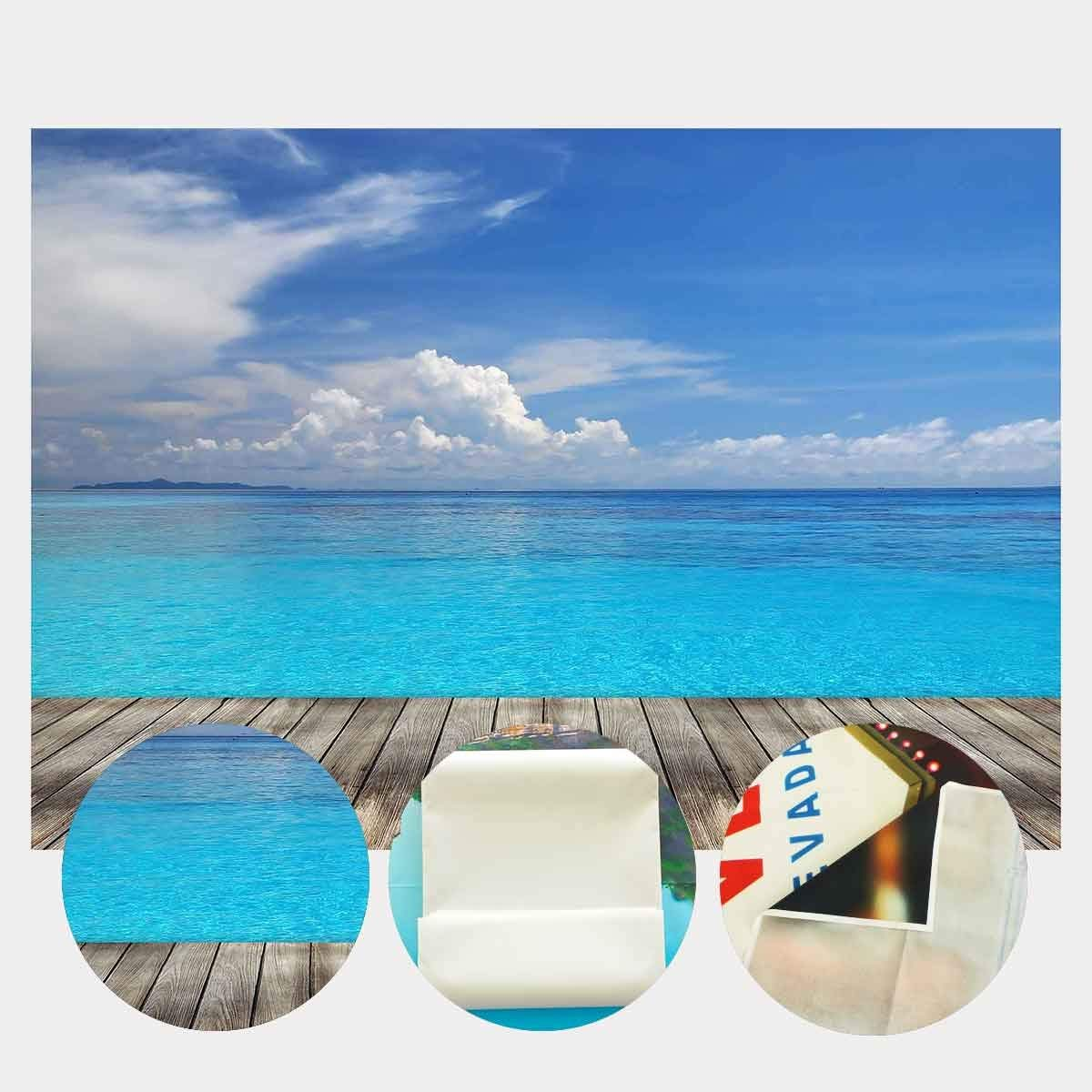 150x220cm Vast Deep Blue Sea Backdrop Blue Sky White Cloud Wooden Floor Photography Background Summer Theme Outgoing in Photo Studio Accessories from Consumer Electronics