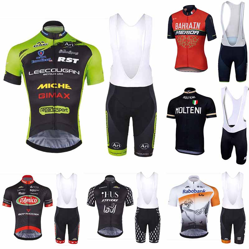 2018 NEW Cycling Jersey Quick Dry bib shorts set High quality 9D Gel pad Cool Design Ropa Ciclismo Mountain bike man clothing