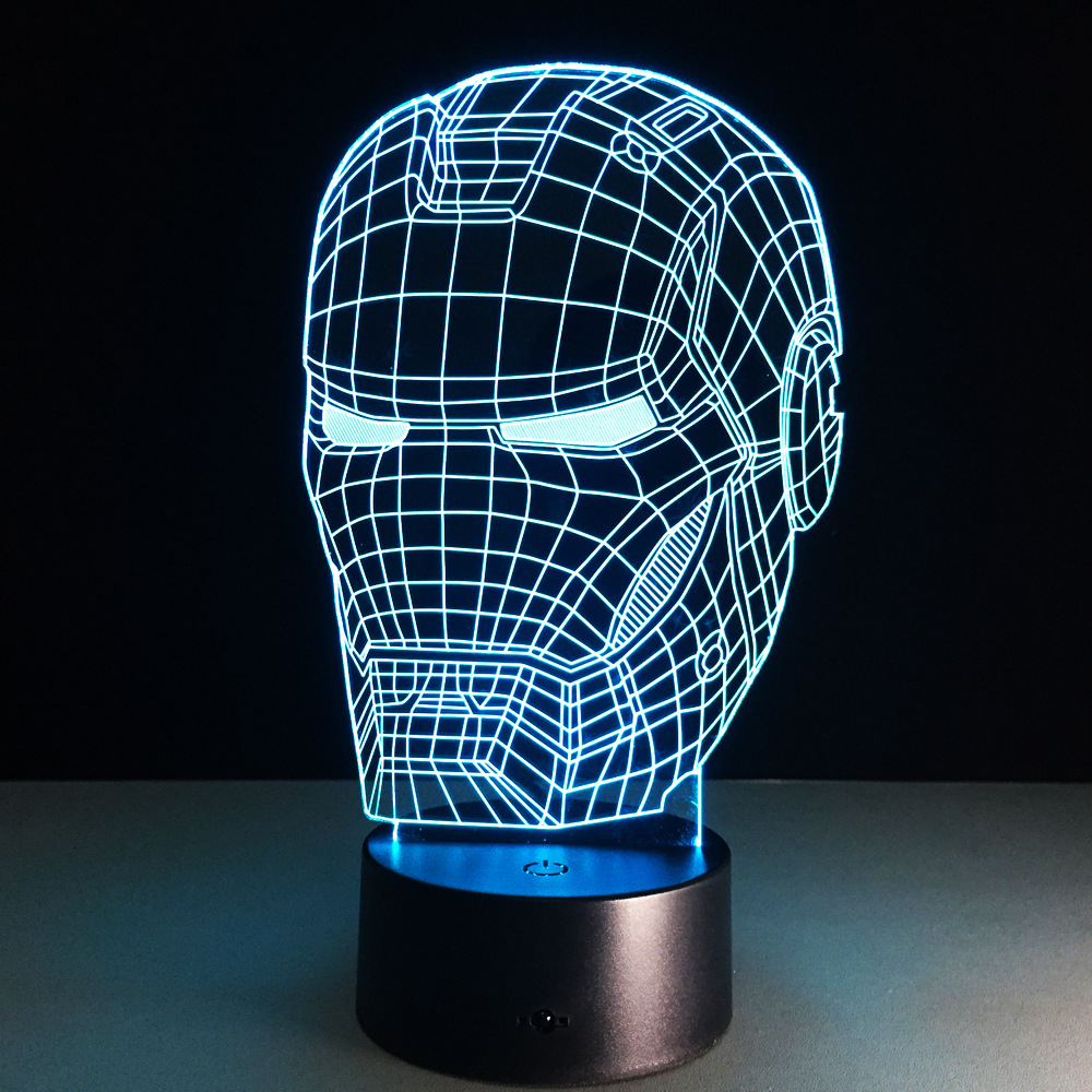 Ironman <font><b>Action</b></font> Figure 3D Led Night Light Iron Man Mark Colorful USB LED Table Lamp Acrylic Lighting Decoration