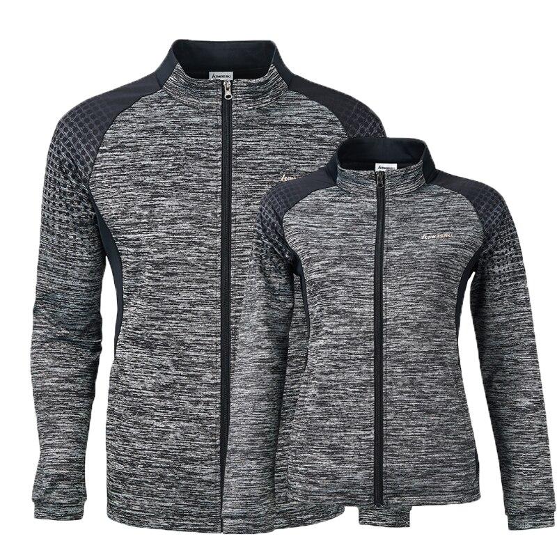 Kawasaki новые осенние мужские спортивные куртки дышащие Комфортные куртки для фитнеса бадминтона теннисные Куртки Пара моделей с молнией JK-S1803