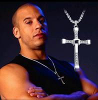 316Stainless Steel The Fast And The Furious Celebrity Vin Item Crystal Jesus Cross Pendant Necklace