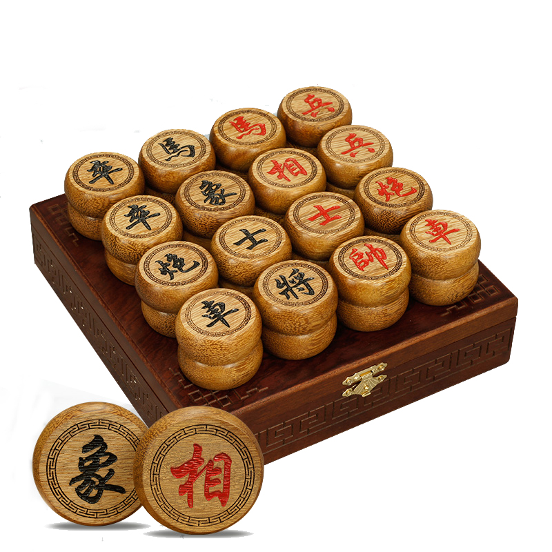 BSTFAMLY Chinese Chess Wooden Box 32Pcs/Set Old Game of Go Xiang Qi International Checkers Folding Toy Gifts No Magnetic LC12 fundamentals of physics extended 9th edition international student version with wileyplus set