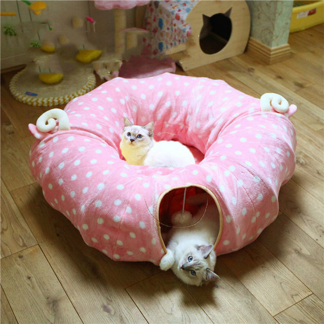 Pet Dog Cat Bed Litter Mat Cat Cave Washable Chinchillas Hamster Rabbit Dog Cat Tunnel Sleeping Bag Toy Kitten House Funny Toys
