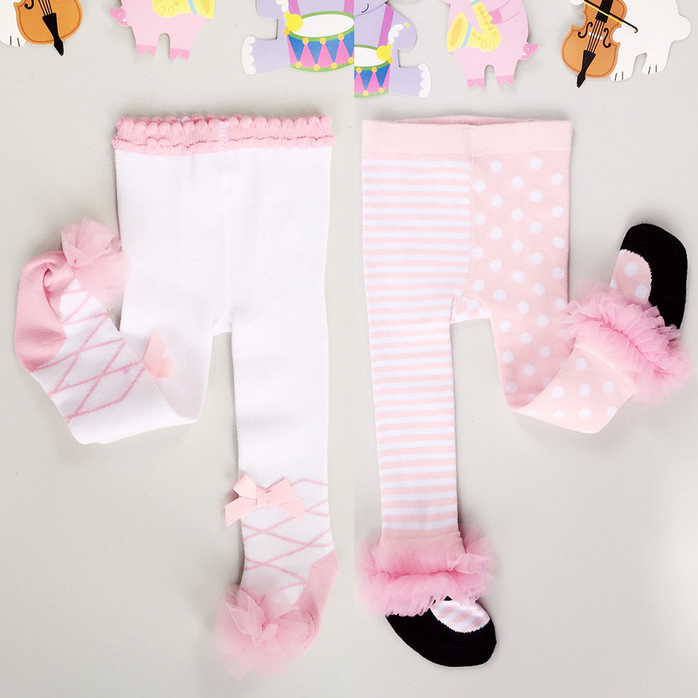 Newborn Baby Lace Bow Stocking Baby Tights Pantyhose For Girls Warm Tights Stockings Pantyhose Pants Trousers