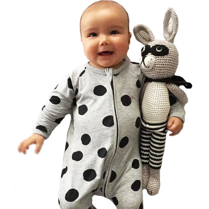 new cute baby bodysuits polka dot long sleeves baby bodysuits children pajamas newborn baby girl clothing