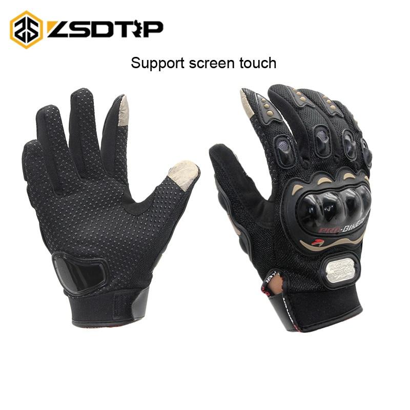 ZSDTRP-Guantes de pantalla táctil Guantes de motocicleta invierno y verano Motos Luvas Guantes de protección equipo de carreras