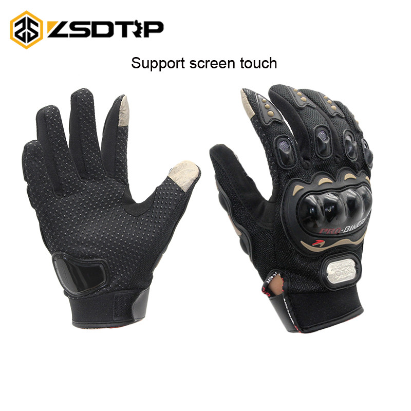 ZSDTRP-Touch Screen Gloves Motorcycle Gloves Winter&Summer Motos Luvas Guantes Protective Gear Racing Gloves