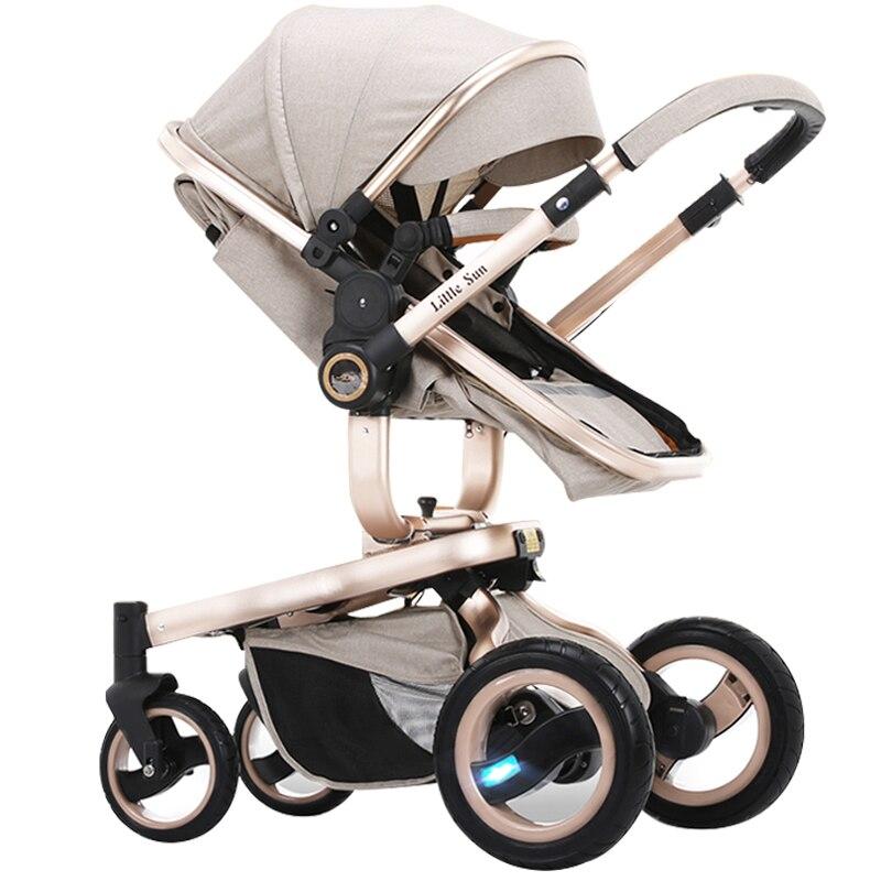 Kleine sonne baby auto baby kind trolley zwei weg licht klapp ...