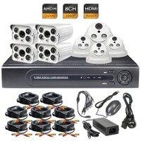 8CH AHD H 2 0MP Indoor Outdoor Metal Camera CCTV Security System 1080P 15fps DVR