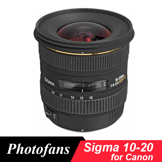 Sigma 10-20 mm f/3.5 EX DC HSM wide angle Lens For Canon 1300D 600D <font><b>700D</b></font> 750D 760D 60D 70D 80D T3i T5i T6 T6s image